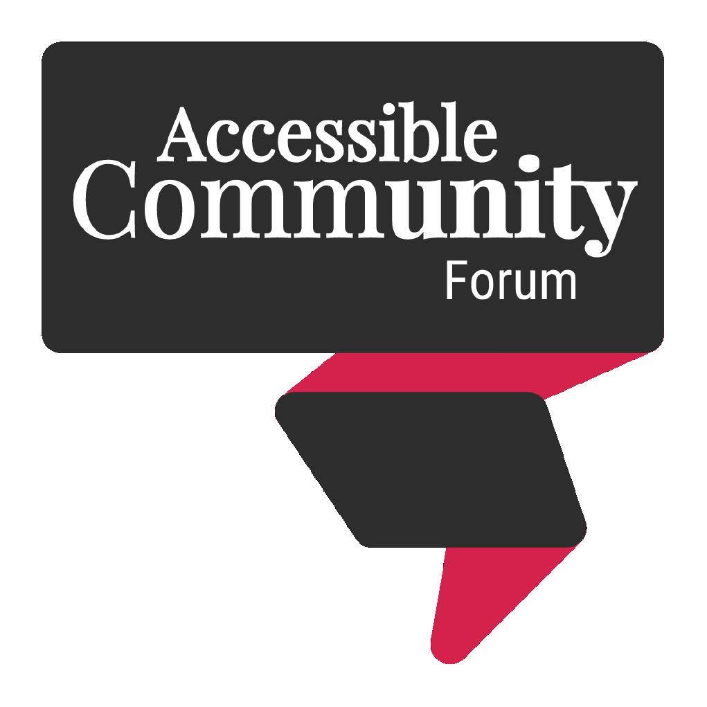 Accessible Community Forum logo
